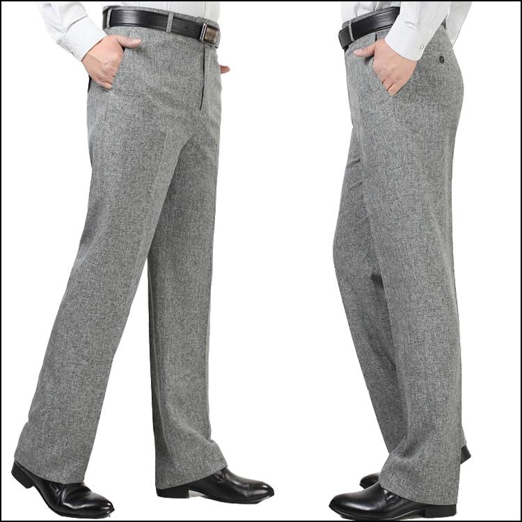 New linen nam quần nam mùa hè phần mỏng trung niên lỏng kinh doanh miễn phí hot kích thước lớn cao eo phù hợp với daddy quần