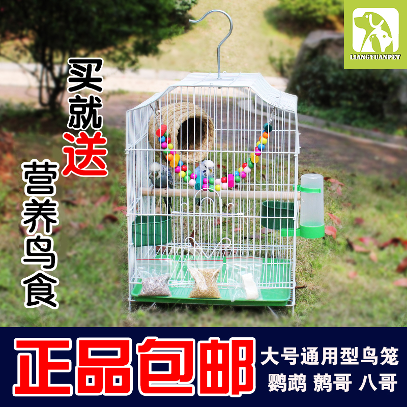462ad07a8 Metal bird cage large tiger peony parrot bird cage large size Starling cage  pigeon breeding cage breeding cage
