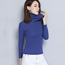 女款打底衫修身显瘦长袖高领针织衫