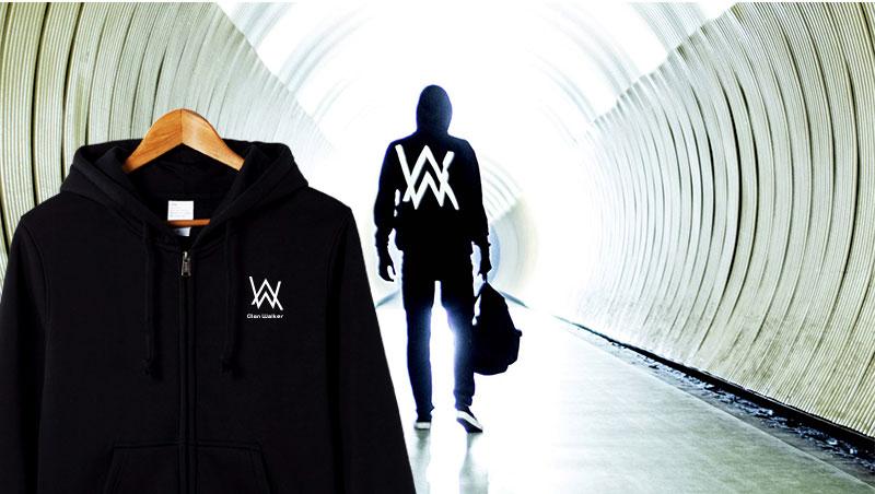 Đỏ Han Ellen Walker DJ dây kéo áo thun hoodie áo len Alan Walker âm thanh điện tử Faded áo khoác nam giới và phụ nữ triều