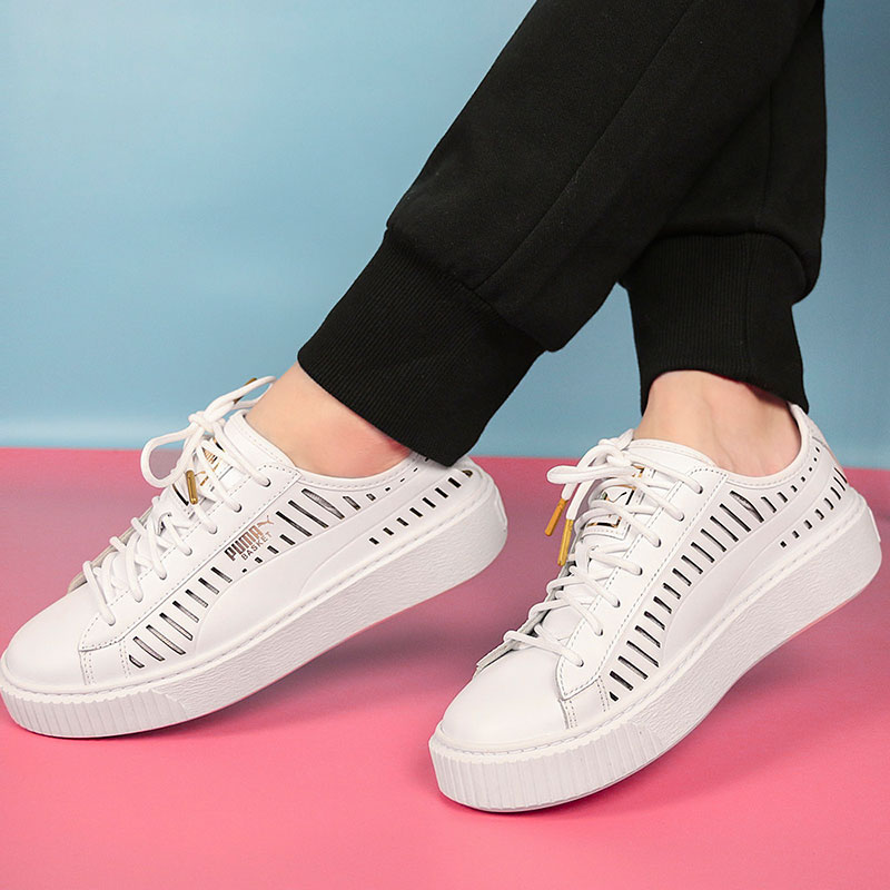 a1fb6cc0356 PUMA Puma shoes 2018 summer new SUEDE Rihanna thick platform shoes sports  shoes 365190