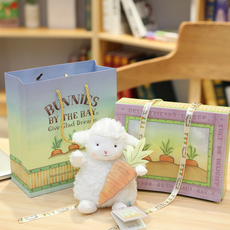 抖音同款bunnies小羊公仔毛绒玩具美国网红绵羊小玩偶情人节女生