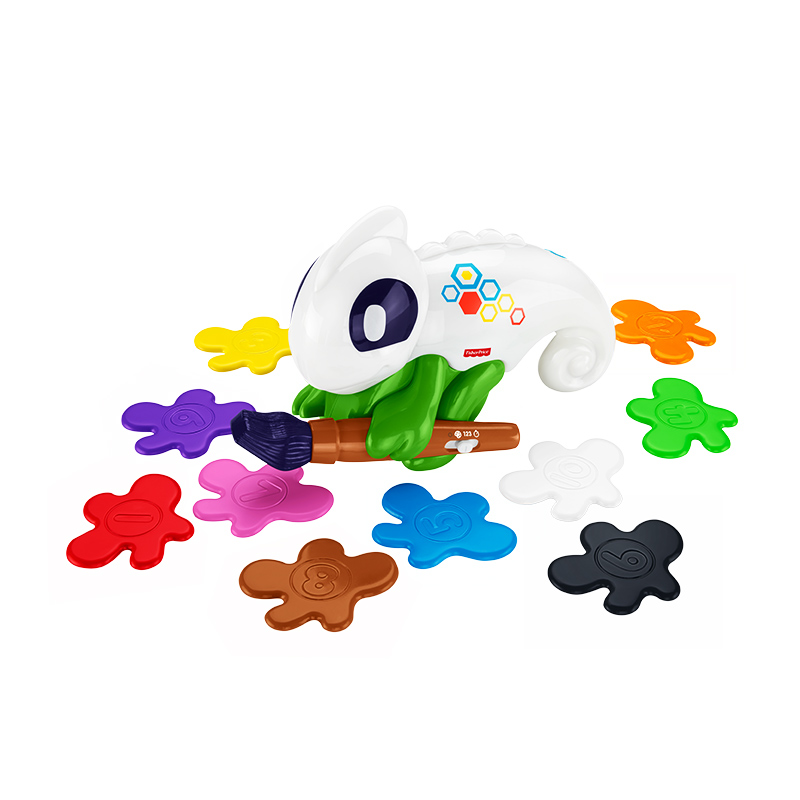 费雪探索魔幻变色龙早教益智玩具
