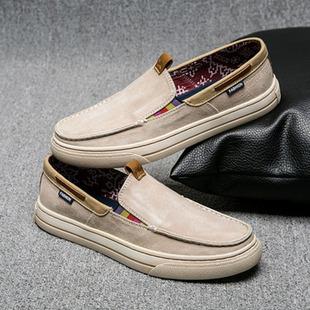 男鞋帆布鞋休闲鞋懒人鞋透气布鞋百搭