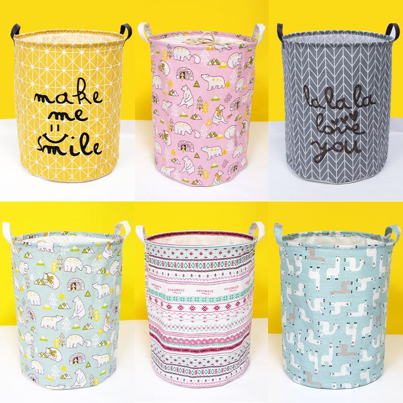 家居收纳脏衣篓加厚玩具收纳篮 布艺可折叠收纳桶大号束口脏衣篮