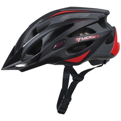 MOON骑行头盔男一体成型自行车头盔山地单车装备安全帽内置防虫网