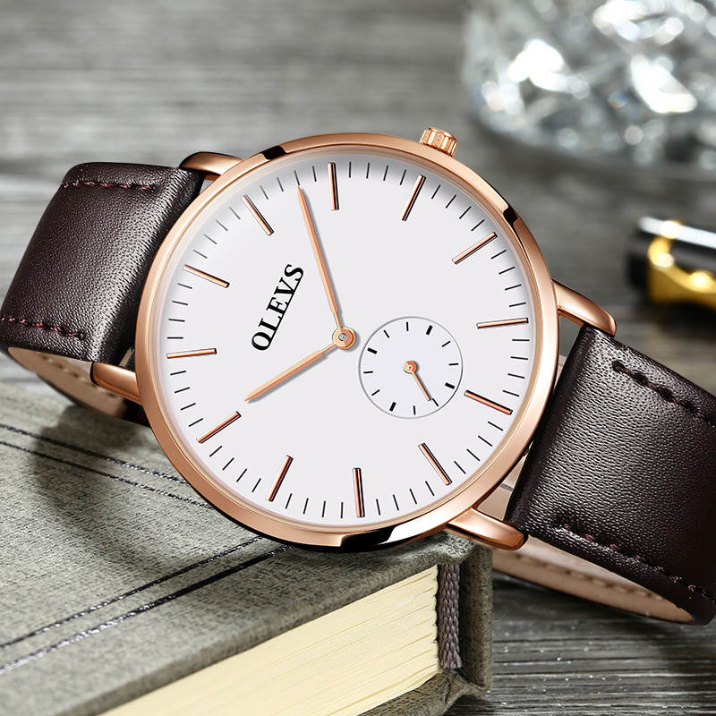 欧利时正品简约薄款手表男士石英表