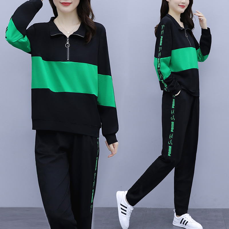 Leisure fashion suit summer dress 2020 new women's summer large size women's autumn sports two piece suit