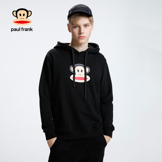 Paul Frank/Big Mouth Monkey 2019 new autumn and winter wear men's hooded long-sleeved hooded men's couple top