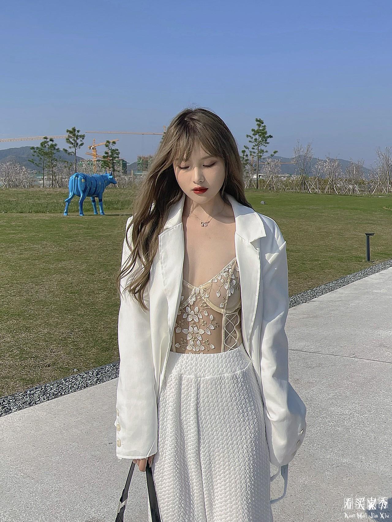 蕾丝刺绣透视内衣买家秀,一件可外穿的神奇内衣2