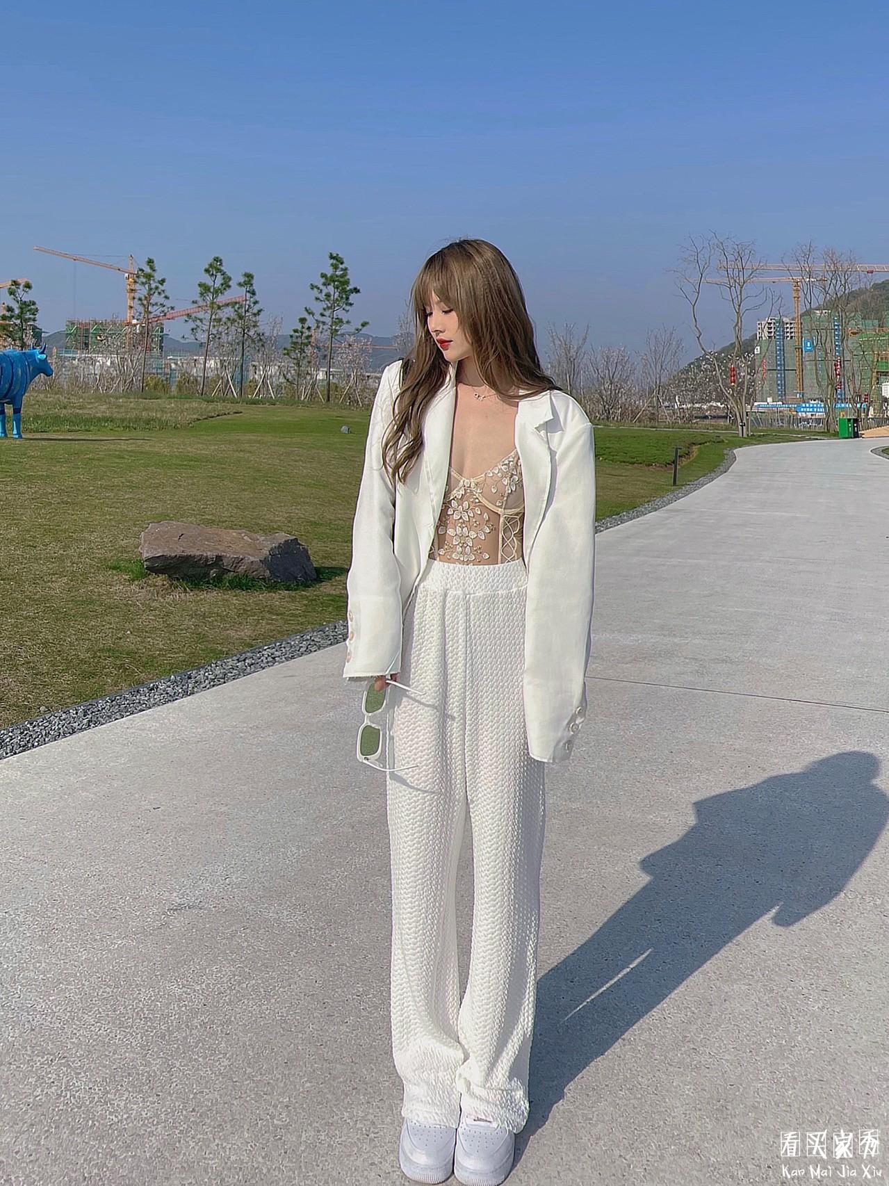 蕾丝刺绣透视内衣买家秀,一件可外穿的神奇内衣3