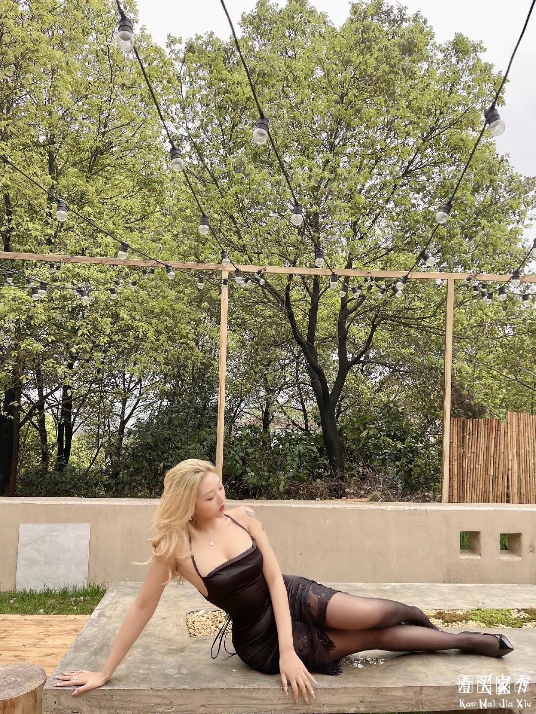 小性感蕾丝拼接吊带裙买家秀,低胸不规则回头率特别高6