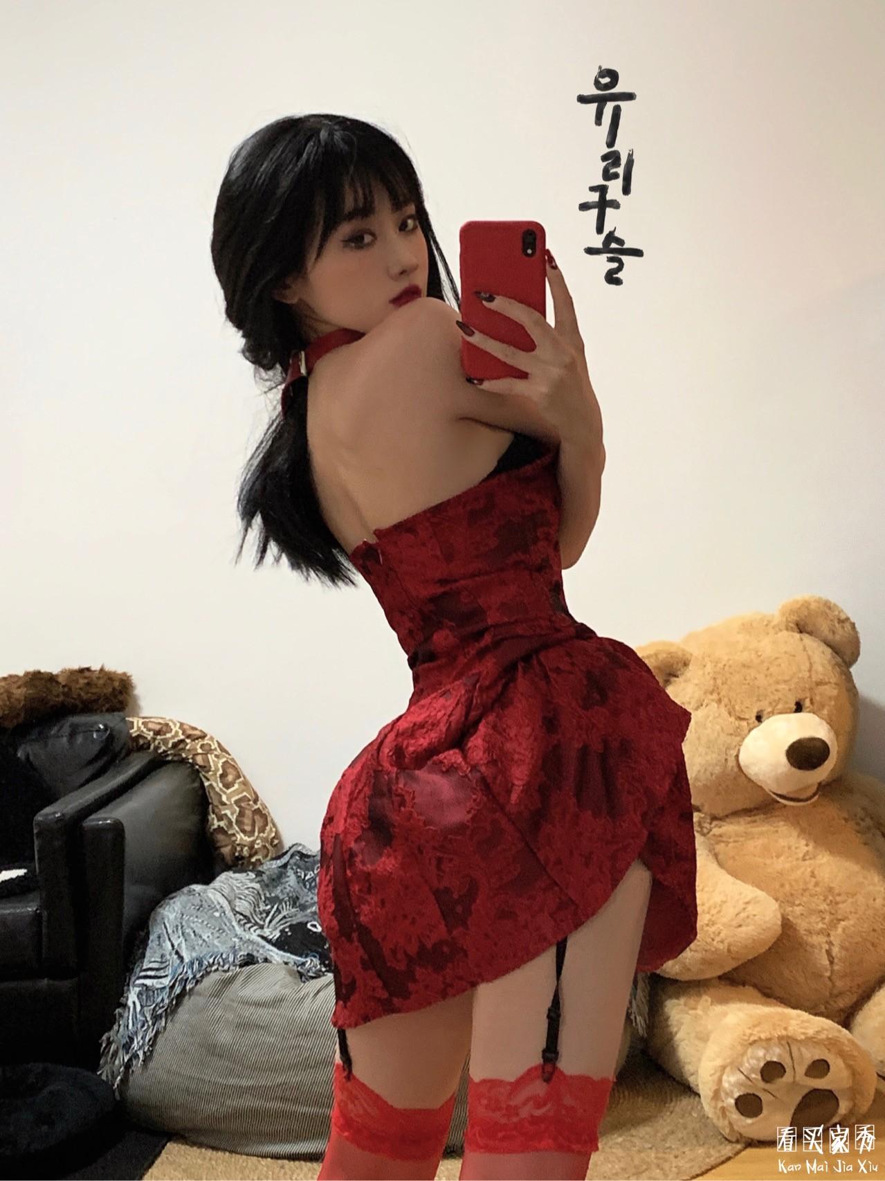 抹胸甜心小短裙买家秀,炸街利器,穿上你也是野玫瑰3
