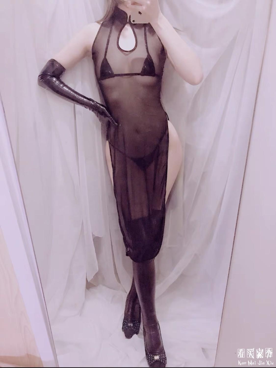 网纱旗袍买家秀,很想挑战穿着这件旗袍真空出门
