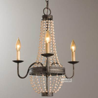 Global impression American retro charlotte wood chandelier fashion simple living room dining room candle chandelier villa