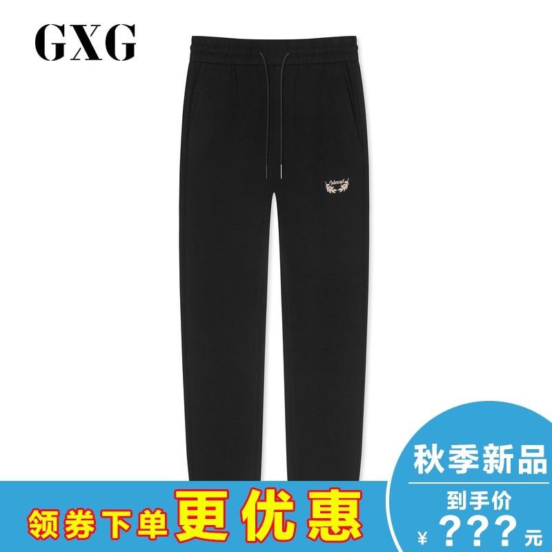 黑色长裤GXG专柜秋季潮流v黑色正品GY102779102779E直筒男士男装