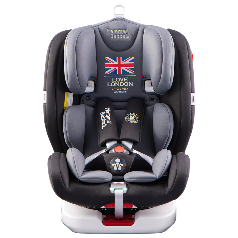 儿童安全座椅汽车用0-3-4-12岁可坐可躺婴儿宝宝360旋转车载坐椅