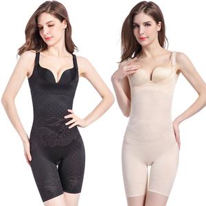 收腹束腰提臀燃脂瘦身产后肚子塑形连体塑身美体内衣服薄款女正品