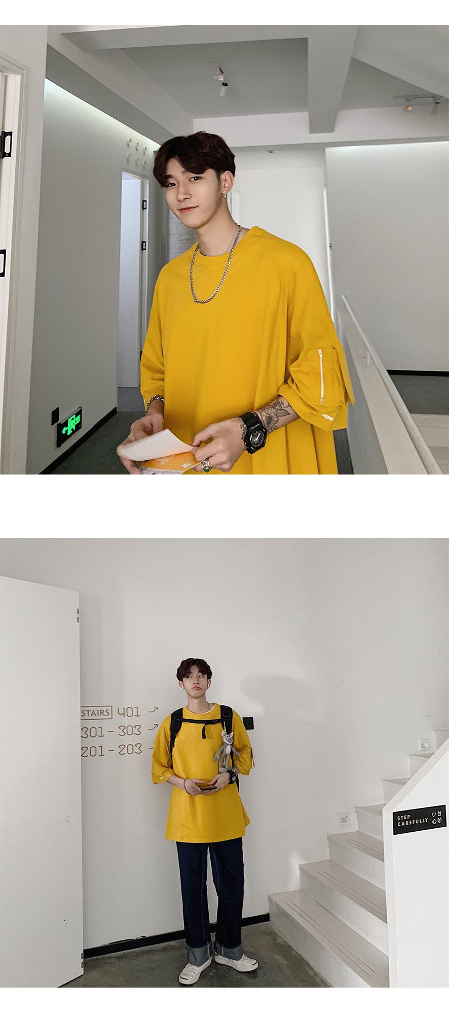 2019夏装新款 oversize宽松版 口袋印花 韩版短袖T恤A342-T20-T48