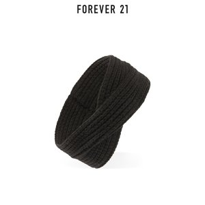 Forever 21/永远21简约复古风小众个性气质纯色针织宽发带女