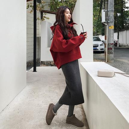 13 秋冬装新款休闲卫衣气质时髦冬季两件套装裙子女潮中长款