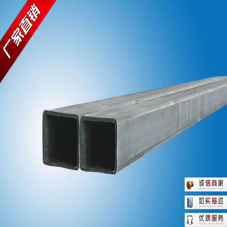 Galvanized square tube 40X40 curtain wall doors and windows sub-frame 60X80  factory direct steel square rectangular pigeon shed car shed square steel