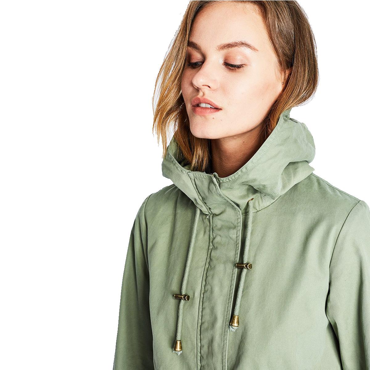 Thời trang Thụy Sĩ siêu tự nhiên của phụ nữ thời trang áo gió mới khí gió áo khoác nữ giữa dài mỏng - Trench Coat