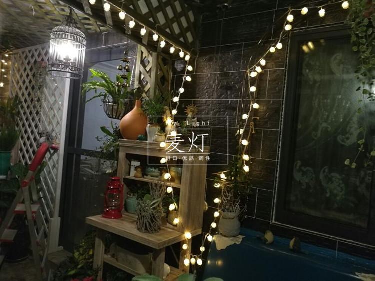 正品户外防水led灯串松果装饰灯院子阳台热销灯室外10米闪灯串灯