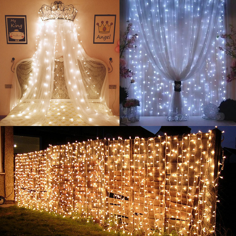 Led Star Lights Curtain Lights Waterfall Lights Flashing Lights ...