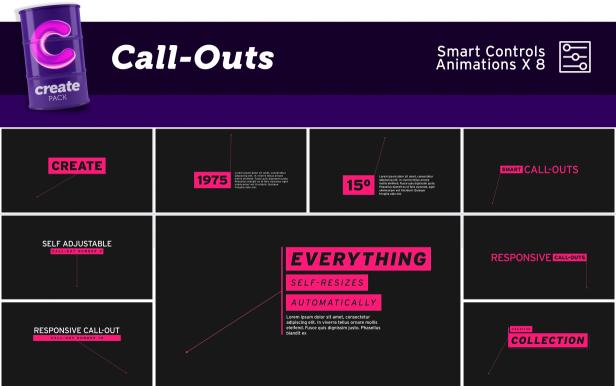 3600+社交媒体文字标题排版字幕指示线动画背景图形卡通动画转场预设ae脚本