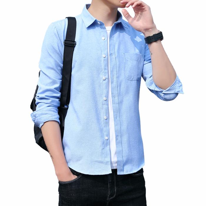 2019秋季男士休闲上衣新款韩版修身衬衣潮流个性工装衬衫