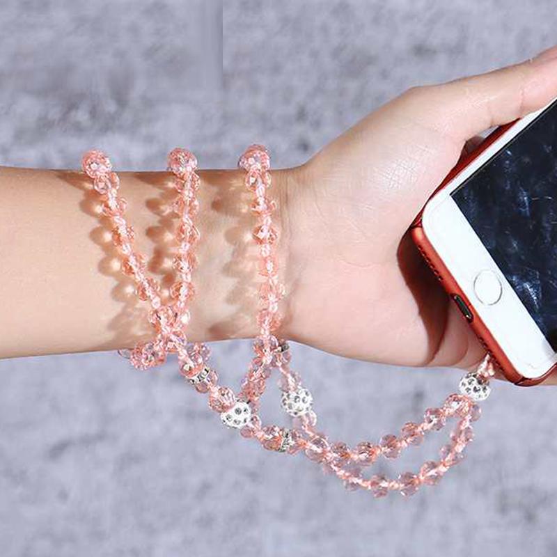 手机挂绳毛衣链长挂绳水钻水晶挂脖女款吊坠时尚手工项链挂饰通用