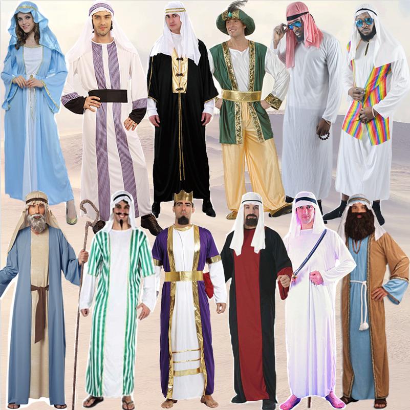 萬圣節服飾男沙特阿拉伯服裝迪拜阿拉伯王子服裝國王酋長服飾cos_7折圖片
