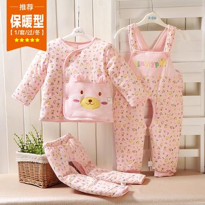 新生儿衣服棉衣三件套加厚冬季套装