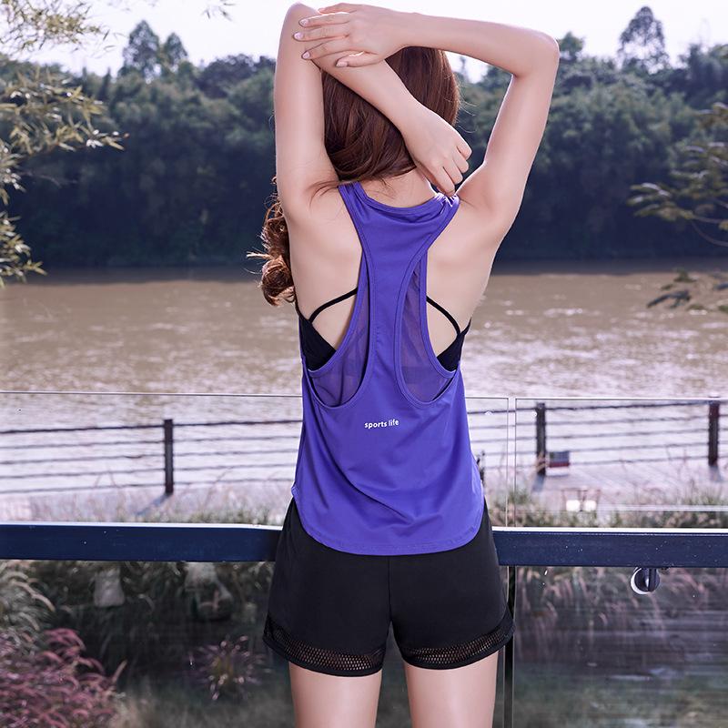 新款运动休闲背心女子宽松无袖美背瑜伽服跑步健身速干罩衫上衣
