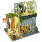 diy小屋阁楼花房解闷手工拼装小房子建筑模型拼装玩具生日礼物女