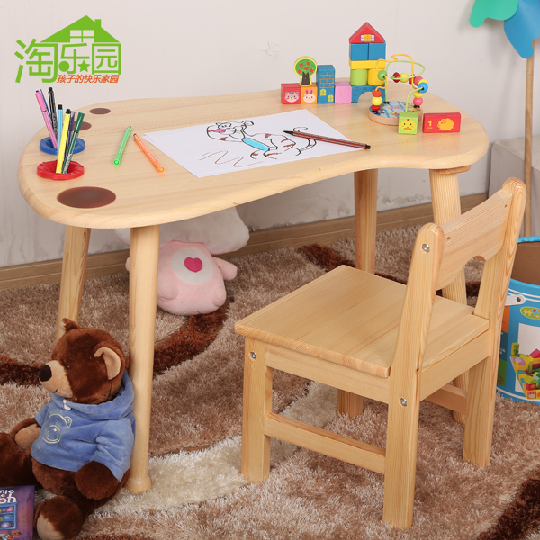 usd 50 02 solid wood kindergarten tables and chairs children table