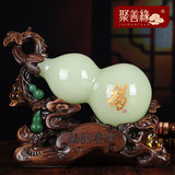 Glass jade gourd ornament lucky Xu Xuan gourd Chinese home living room TV cabinet accessories