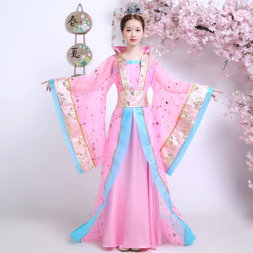 Chinese Folk Dance Dress Ancient costume, Tang costume, Han costume, imperial concubine dress, tailing Queen costume