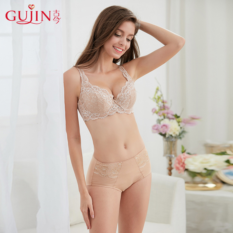 77d192c0193 Ancient and modern lace gathered thin bra big cup code side collection  large cup steel ring underwear female bra adjustment 08313
