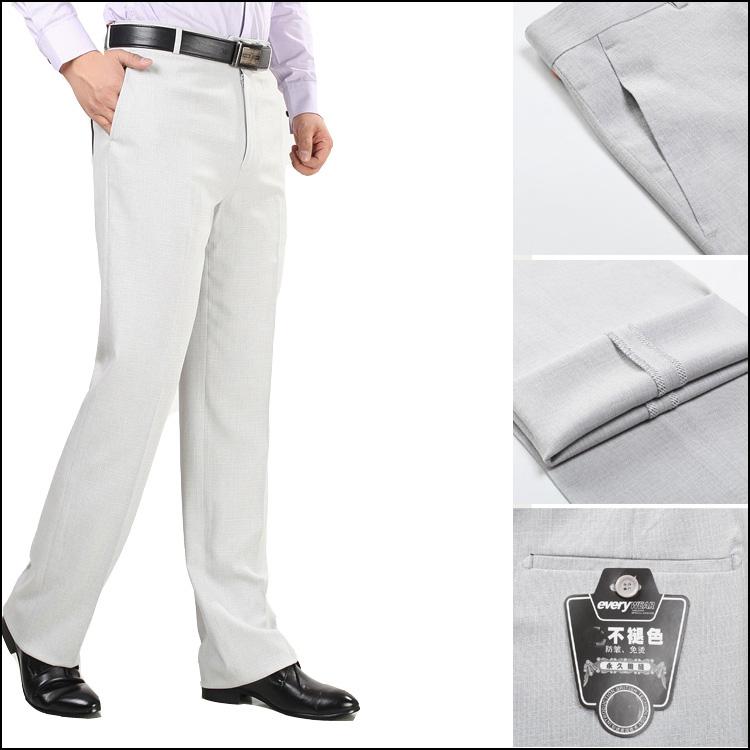 Linen nam quần nam mùa hè phần mỏng trung niên lỏng kinh doanh miễn phí hot kích thước lớn cao eo phù hợp với mùa hè daddy quần