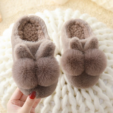 Children's cotton slippers 2019 winter new baby non-slip home fur shoes men and women indoor parent-child warm shoes