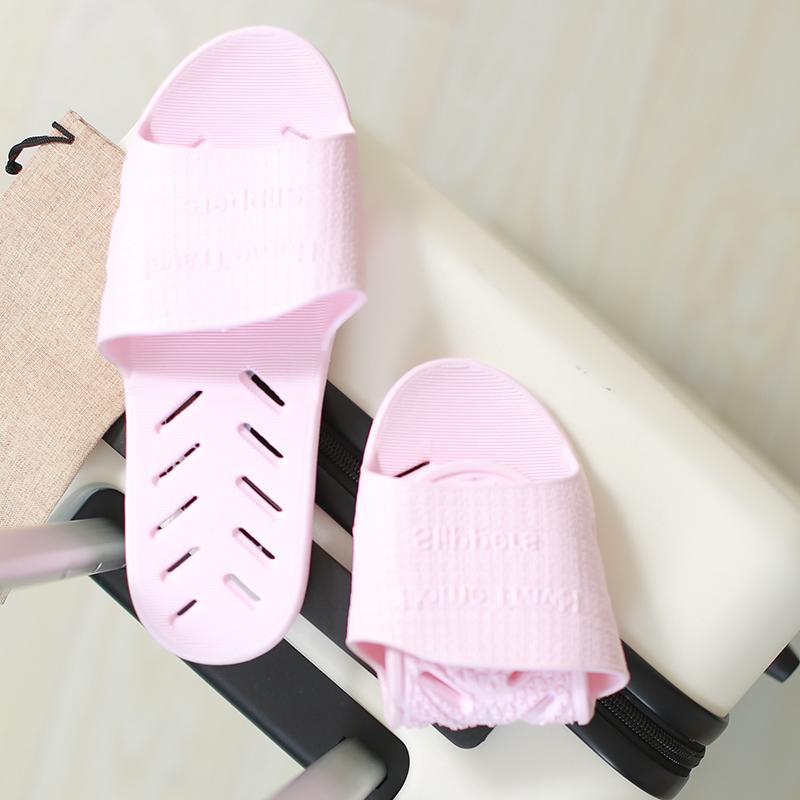 旅行折叠拖鞋女便携旅游度假游泳沙滩凉鞋超轻出差酒店洗澡防滑鞋