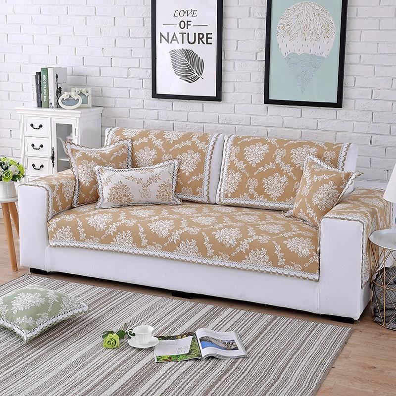 沙发棉麻垫沙发防滑欧式坐垫提花能四季套罩全包v沙发沙发巾全盖