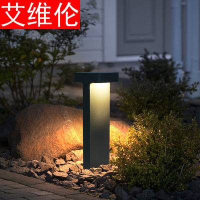Solar simple modern outdoor garden lights lawn lights waterproof lights villa lights garden lights landscape lights park lights