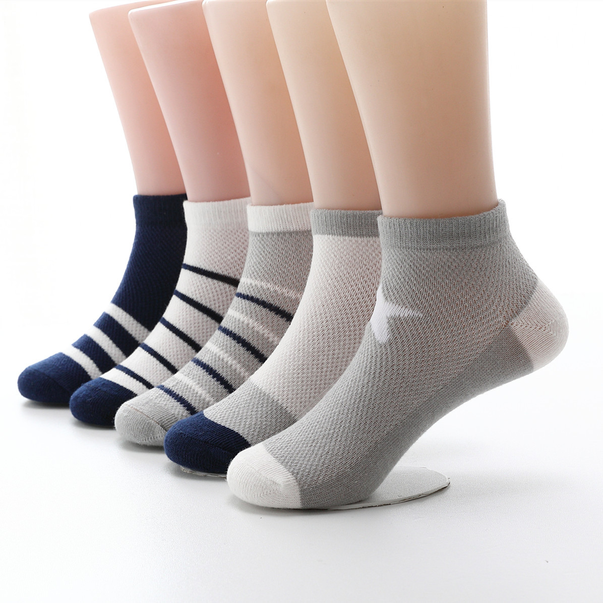 儿童袜子春夏季薄款男童女童春秋超薄棉透气纯棉小孩夏天网眼短袜