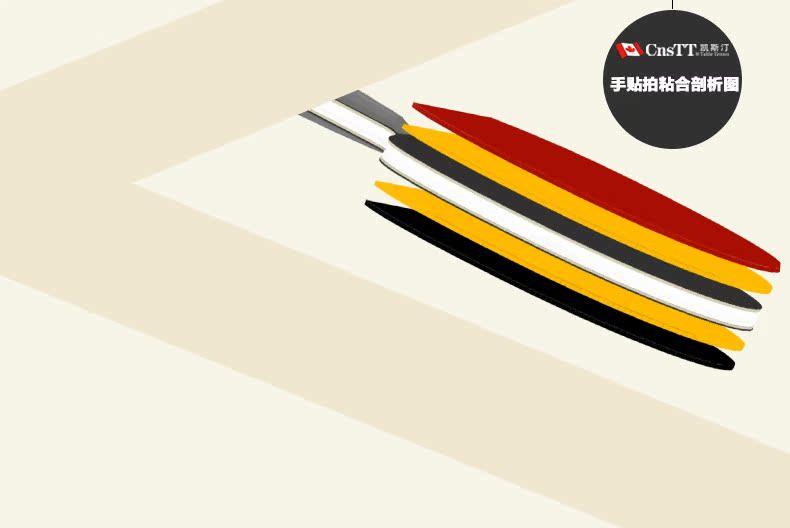 CnsTT凱斯汀 DIY乒乓球拍 成品拍 直拍橫拍 ABS6629刀鋒戰士底板