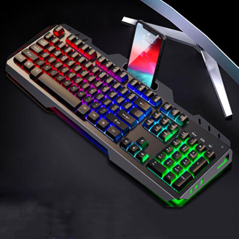 牧马人真机械手感键盘笔记本台式电脑有线�游戏电竞鼠标三件套