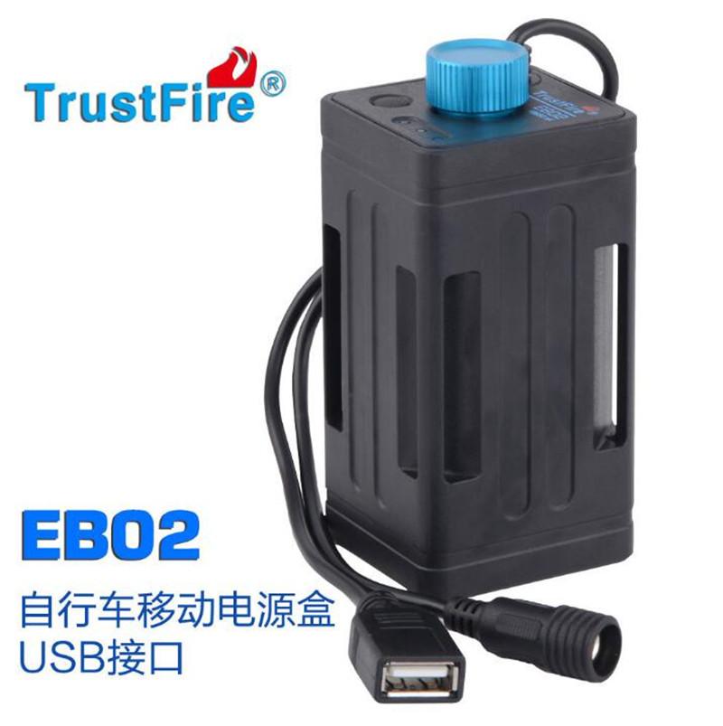 TruseFire 4 18650 pin xe đạp cung cấp năng lượng cho thiết bị di động DC8.4V / USB5V Kho báu sạc EB02 - Ngân hàng điện thoại di động