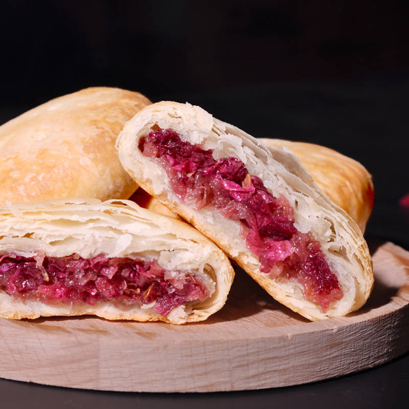 正宗鲜花饼秘制玫瑰味多口味可选早餐糕点心